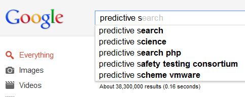 Google's Predictive Searches
